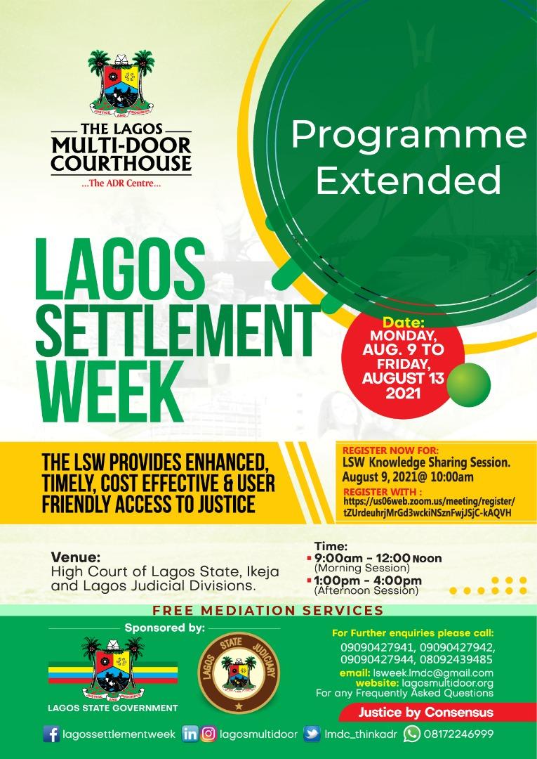 Settle Week Flyer